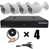 Купить готовый комплект IP видеонаблюдения на 4 камеры для дачи и улицы