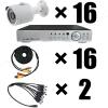 Комплект видеонаблюдения на 16 камер AHD для улицы