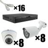 """Комплект видеонаблюдения IP """"Улица+Дом"""" на 16 камер"""